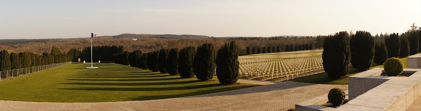Photo: Looking out from the front steps of the Douaumont Ossuary