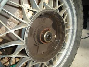 Photo: Inside of the rear wheel.