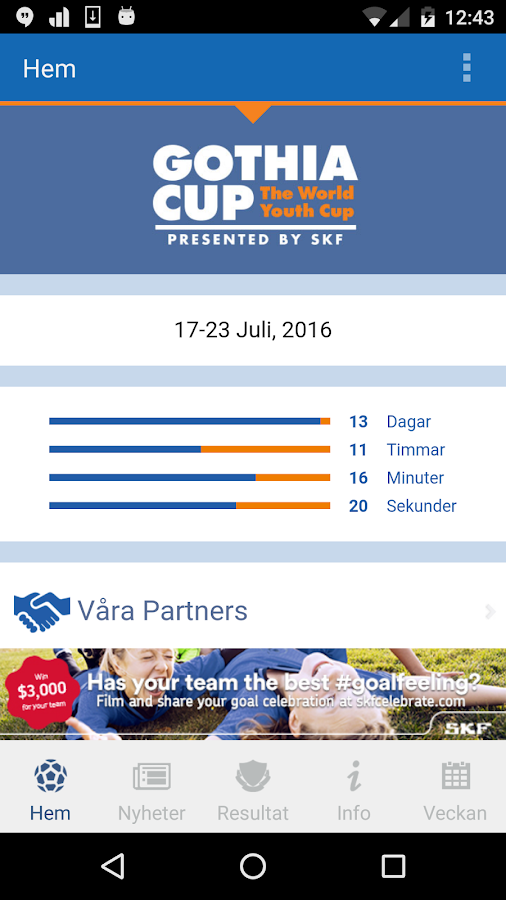 Gothia Cup- screenshot