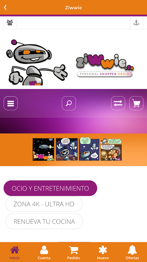 Ziwwie Personal Shopper Droid: captura de pantalla