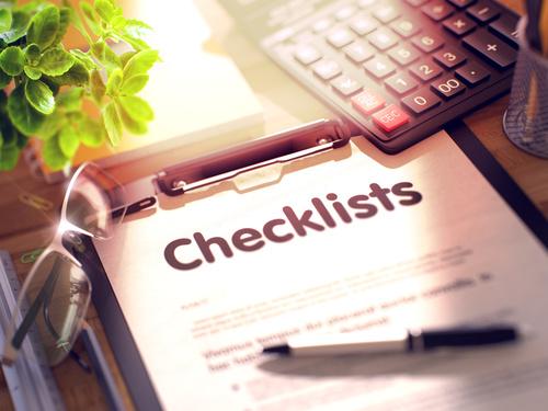 checklist InDesign