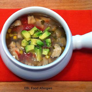 Slow Cooker Chicken Tortilla Soup Recipe, #top8free #glutenfree