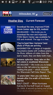 FOX6 Milwaukee Weather- screenshot thumbnail