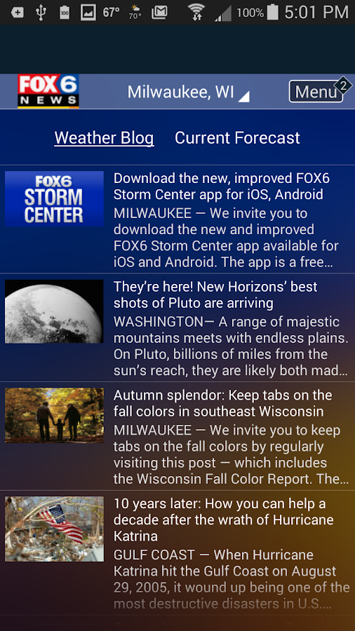 FOX6 Milwaukee Weather- screenshot
