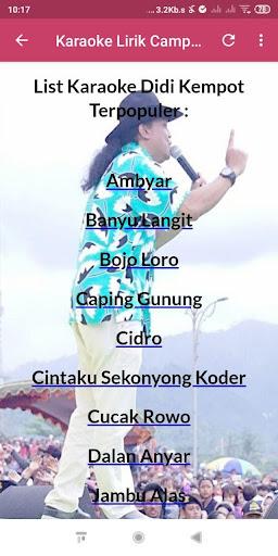 Karaoke Lirik + Campursari Didi Kempot Offline screenshots 2