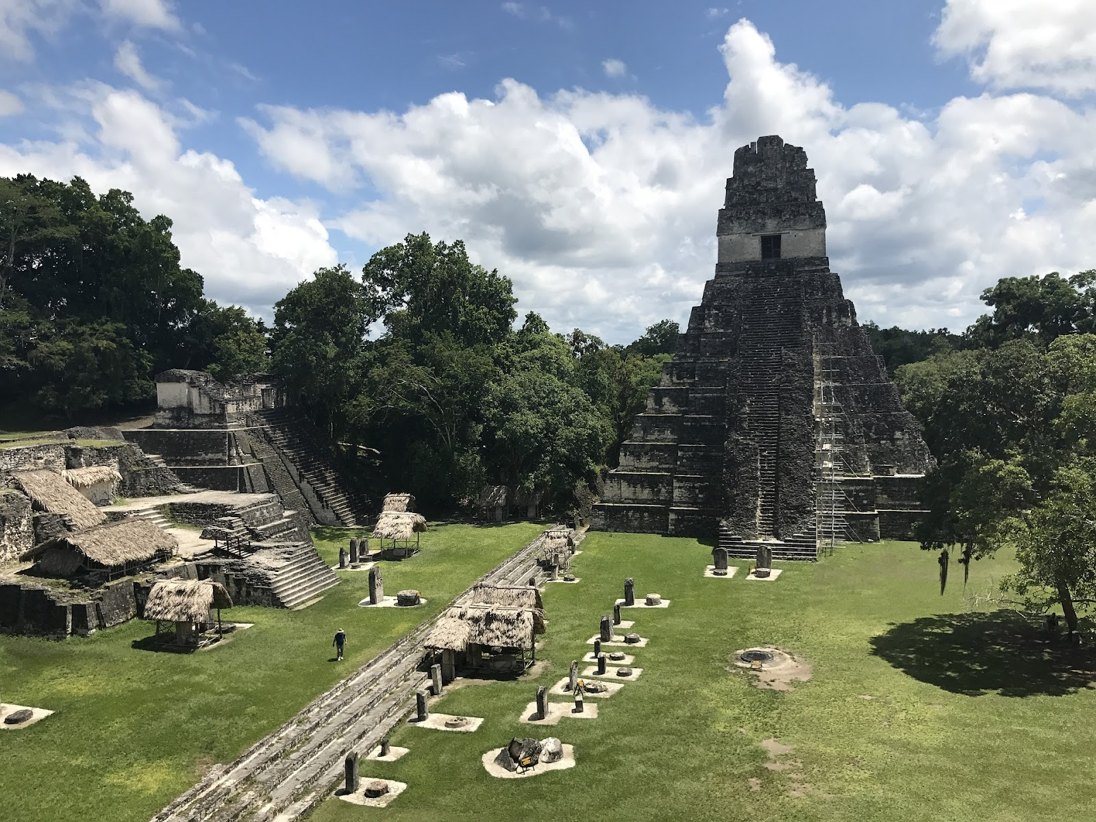 Temple I and the Main Plaza at the Mayan site of Tikal.