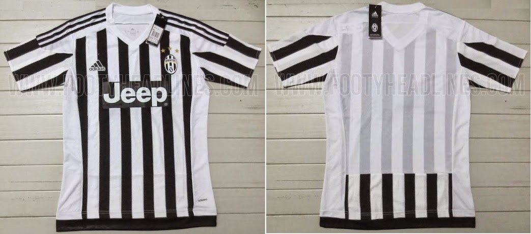"""9c64bed271b The new home kit features white black stripe design with a white collar and three  black adidas stripes on the shoulders. Team shirt sponsor logo of """"Jeep"""" ..."""