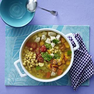 Turkey, Chickpea and Pumpkin Stew.
