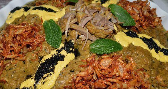 طرز تهیه حلیم بادمجان مجلسی با گوشت