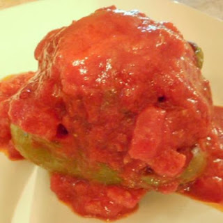 Filled Peppers with Chunky Tomato Sauce