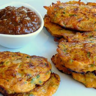 Golden Kumara & Bacon Fritters.
