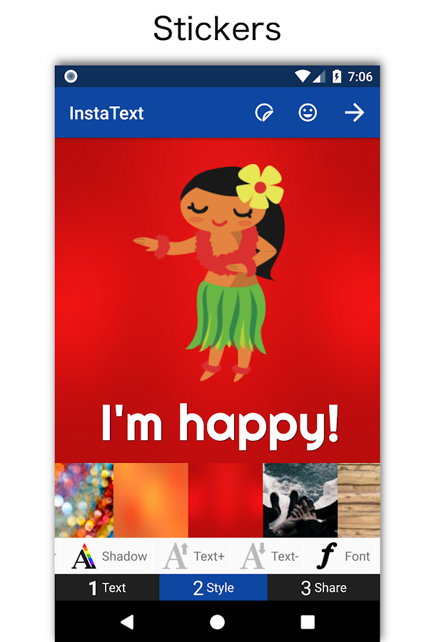 InstaText- screenshot
