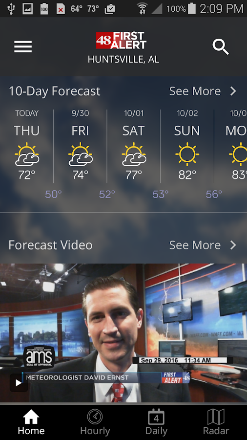 WAFF 48 Storm Team Weather- screenshot
