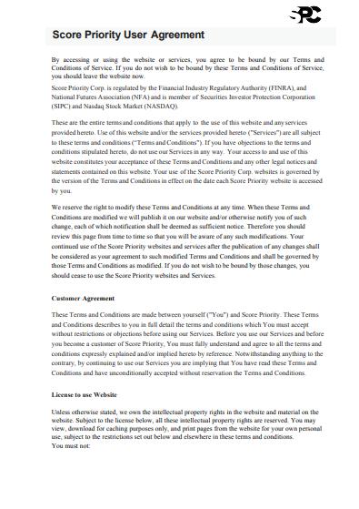 Обзор CFD-брокера Score Priority: условия сотрудничества