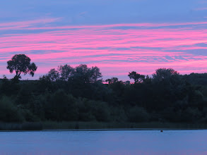 Photo: 29 Jun 13 Priorslee Lake: A red sky before it clouded over completely. (Ed Wilson)