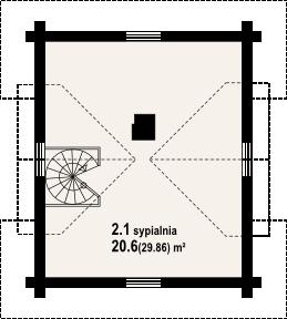 Gajowo 6p - Rzut poddasza