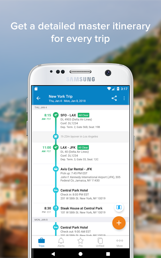 TripIt: Travel Organizer – Screenshot