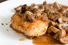 Pan Fried Chicken With Mushrooms