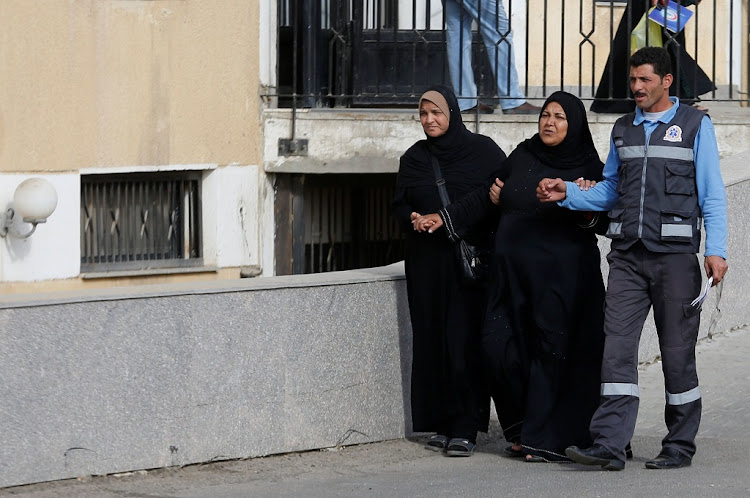 Relatives of victims of the Al Rawdah mosque attack, are seen leaving the Suez Canal University hospital in Ismailia, Egypt November 25, 2017. Picture: REUTERS/AMR ABDALLAH DALSH