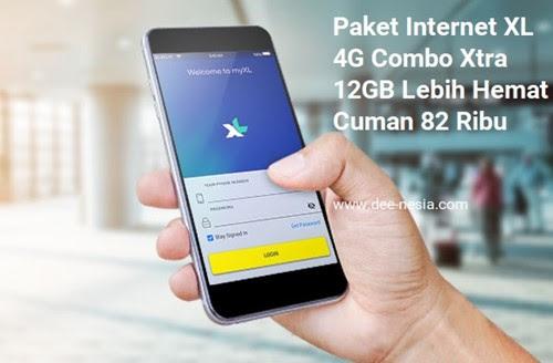 Paket Internet XL 4G 12GB Lebih Hemat Cuman 82 Ribu (Aslinya 89 Ribu)