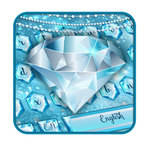 Blue Nile diamond emoji Keyboard Theme