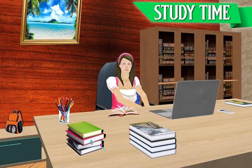 Virtual Girl Life: New High School Girl Sim android2mod screenshots 2