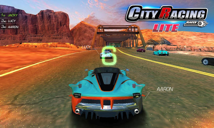 City Racing Lite Android App Screenshot
