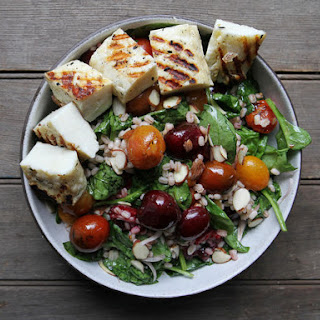 Grilled Halloumi and Cherry Salad Recipe