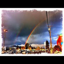 Photo: Nice double rainbow tonight #intercer - via Instagram, http://instagr.am/p/KOru9HJfhQ/