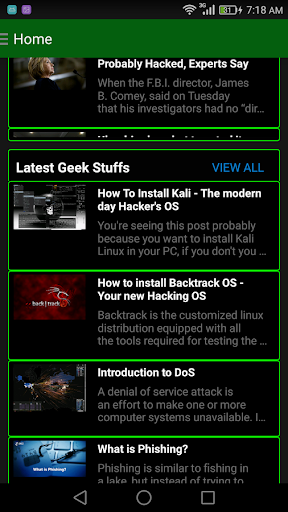Geek App 2.0- Hacking Tutorials,News- Alien Skills 2.2 screenshots 4