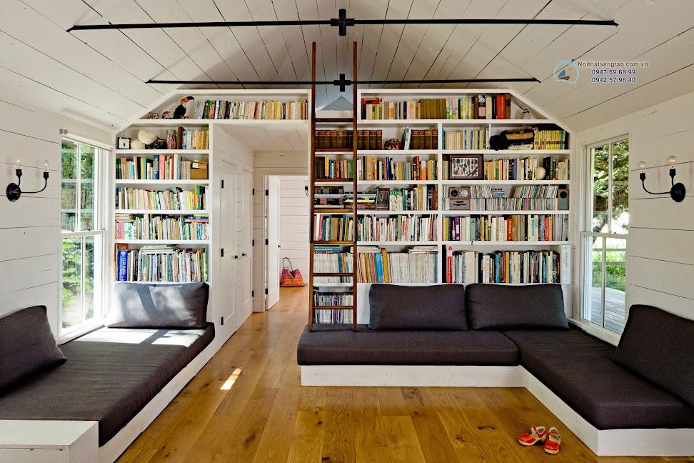 thiết kế phòng đọc sách sáng tạo