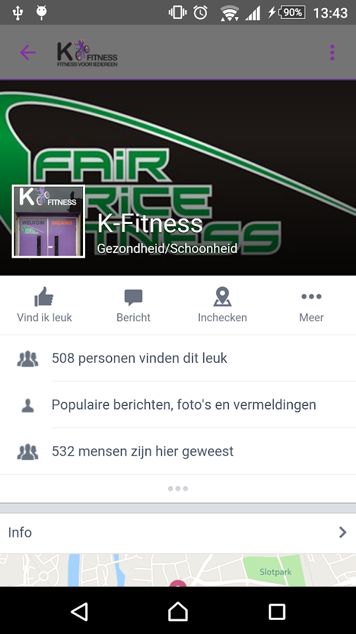 K-Fitness: screenshot