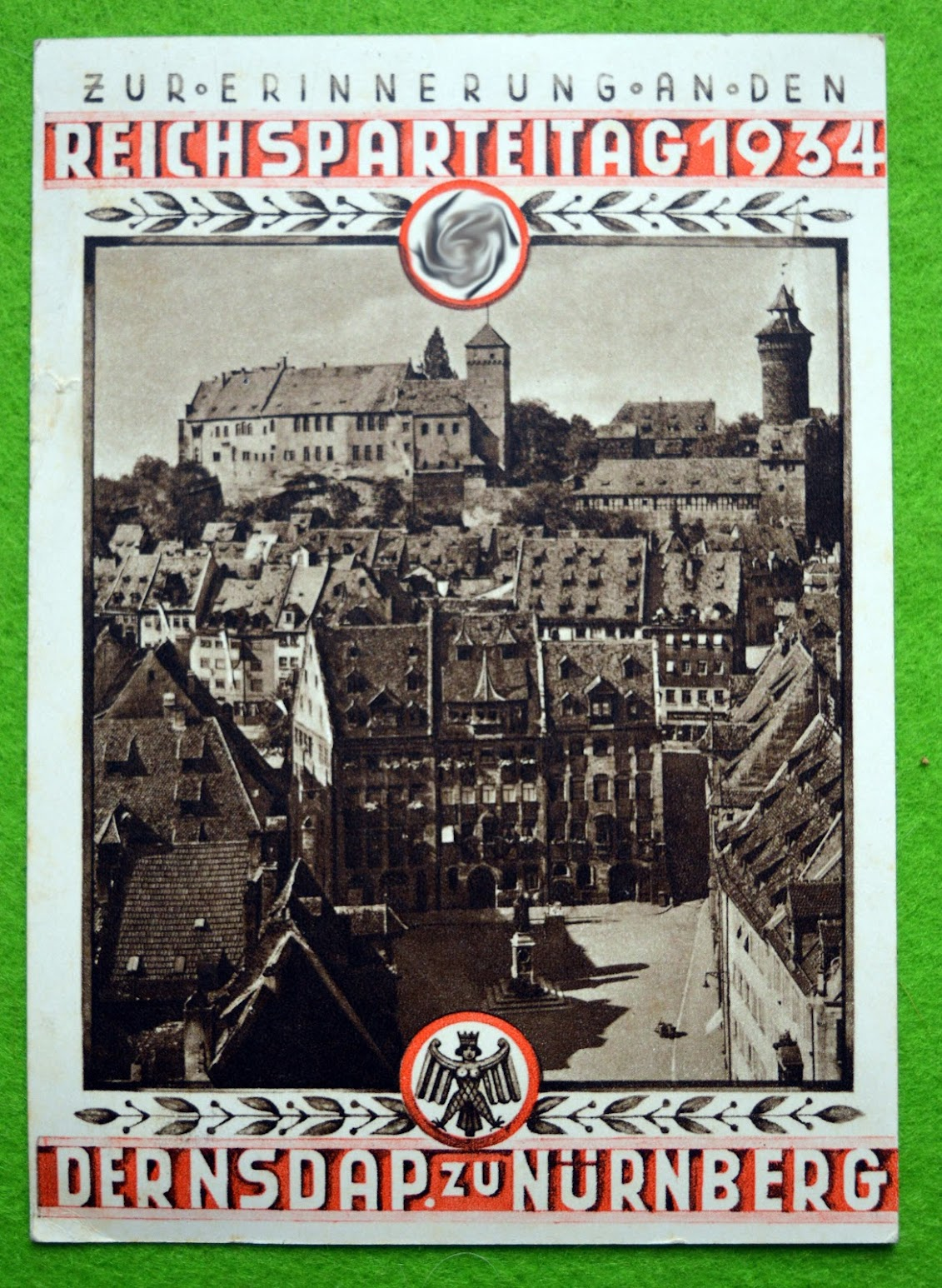 Karte vom Reichsparteitag 1934, Nürnberg