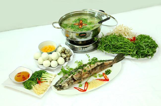 Cháo cá lóc rau đắng, một món ăn đặc sản ở Cần Thơ