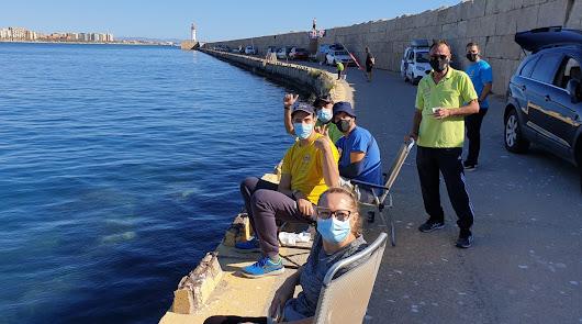 Las cañas de pescar vuelven al Puerto de Almería con los Juegos Deportivos