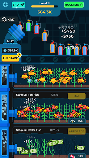 Idle Fish Aquarium apklade screenshots 2