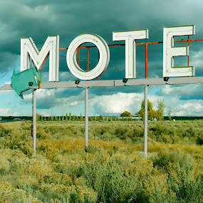 Motel by Shawn Vanlith - Artistic Objects Other Objects ( field, sign, motel )