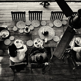 Dining Verandah, Pugdundee Resort, Panna, India by Ajay Sood - Buildings & Architecture Other Interior ( interior, building, black and white, ajay, sood, bw, travelure, monotone )