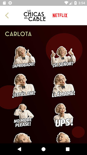 Stickers Las Chicas del Cable 1.0 screenshots 4