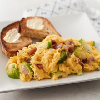 Fluffy Scrambled Eggs with Brussels Sprouts & Swiss Cheese Recipe