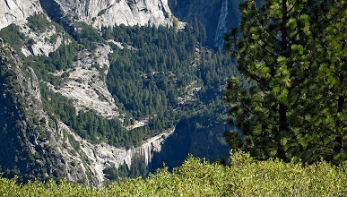 Photo: Looking way down across from a somewhat-dry Yosemite Falls. #2824