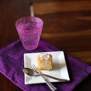 Semolina Honey Lemon Syrup Cake/ Basbousa Or Namoura