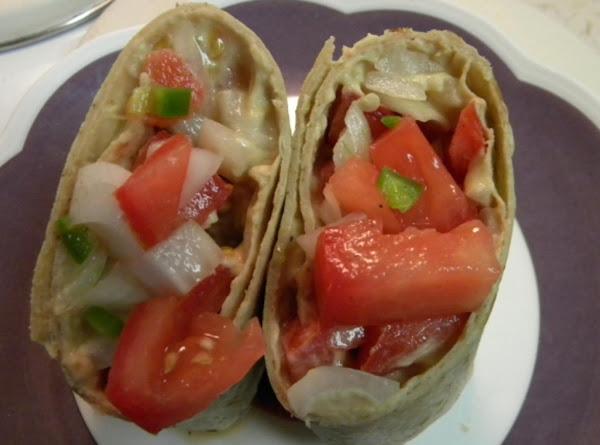 Ethiopian Tomato Salad Wrap Recipe
