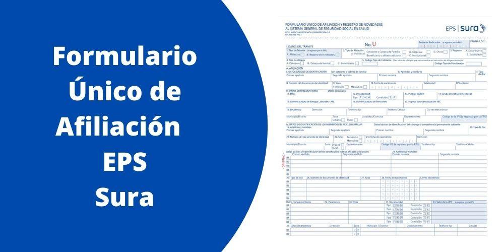 Formulario Único de Afiliación EPS Sura