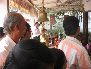 Photo: Chakla Dham (January  28, 2009) Congregation in front of Baba Lokenath's shrine