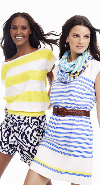 Photo: Express yourself with statement-making prints--from painterly stripes to bold ikats--all in summer's coolest colors.