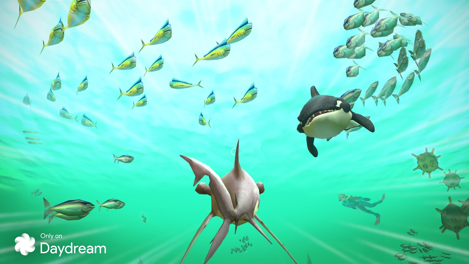 Hungry Shark VR google play ile ilgili görsel sonucu