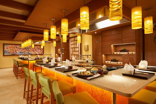 carnival-panorama-Bonsai-Teppanyaki.jpg - At Bonsai Teppanyaki, the meal will be great but don't miss the chopping, flipping and flaming of your food as your dinner is prepared in front of your eyes.
