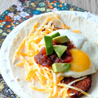 Black Bean Burger Breakfast Burritos