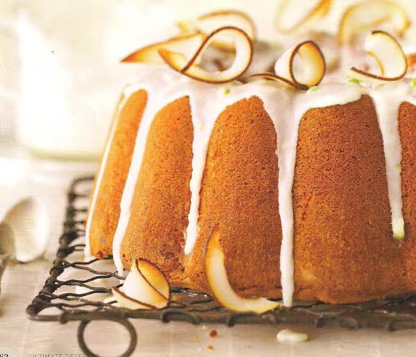 Lime Infused Coconut Pound Cake Recipe